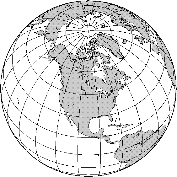 PNG orthographic map