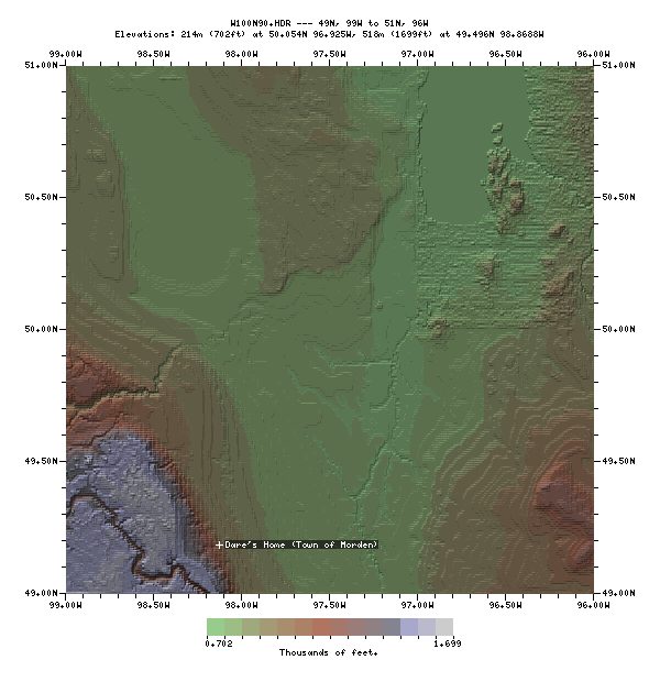 PNG map using Drawmap and                                       gtopo30 data