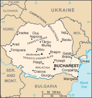 PNG pic of map                       of Romania