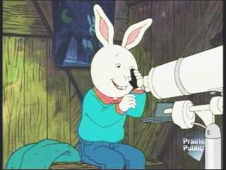 JPG TV                   snapshot of Buster Baxter with his telescope