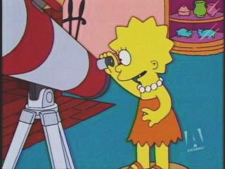 JPG TV                   snapshot of Lisa Simpson with her telescope